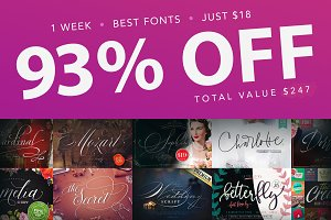 1 WEEK  •  BEST FONTS  •  JUST $18