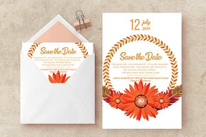 Floral Save The Date Invite Template