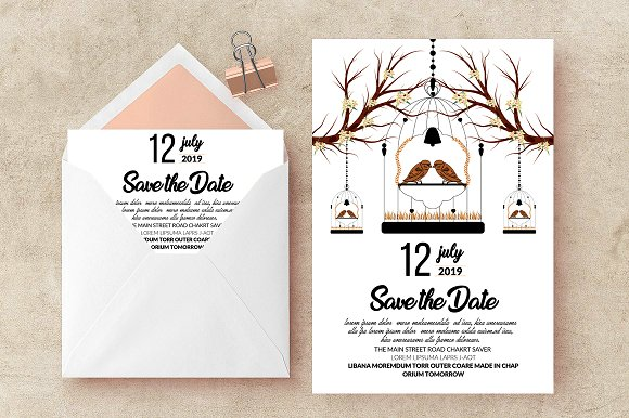 save date card invite templates