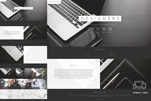 Designers Coming Soon HTML5 Template