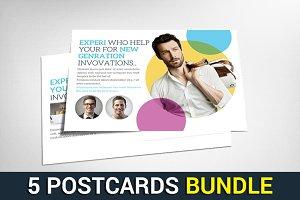 5 Creative Design Agency Postcards