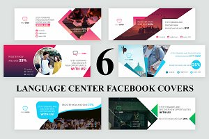 6 Language Center Facebook Covers