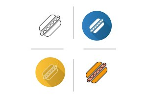 American hot dog icon