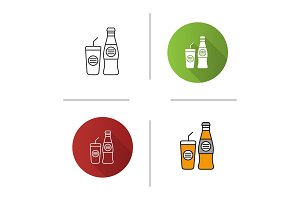 Cold drinks icon