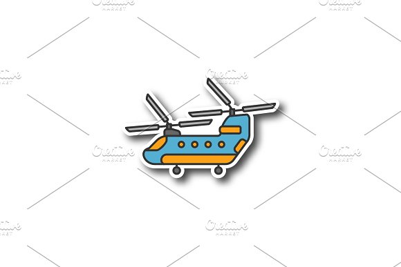 Military helicopter patch