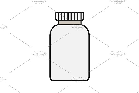 Prescription pills bottle color icon in Icons