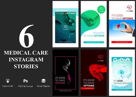 6 Medical Care Instagram Stories