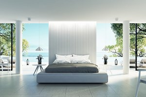Beach bedroom interior - Modern & Lu