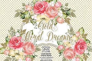 Gold Floral Dreams design