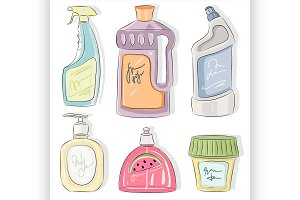Detergent bottles collection