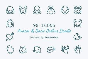 Avatar & Basic Outline Doodle