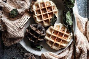 Oil free waffle