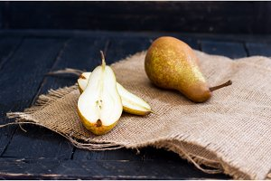 Italian pear. Pear Bera. Fresh fruit.