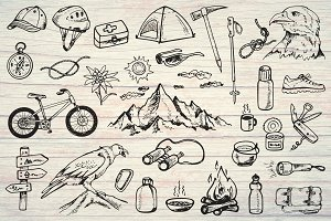 Mountain tourism and camping