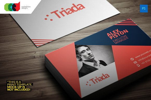 Modern business card 6 business card templates creative market modern business card 6 business cards reheart Images