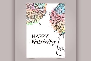 Vector greeting card designe