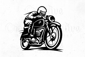 Cafer Racer Illustration, logo #1