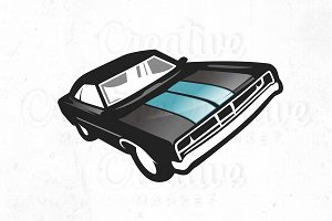 Mustang Car, logo, Illustration
