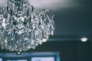 Big beautiful vintage chandelier