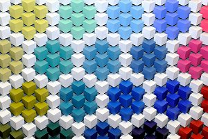 Geometrical ornament from cubes