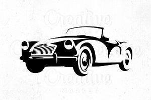 Car Geometric Line Illustration
