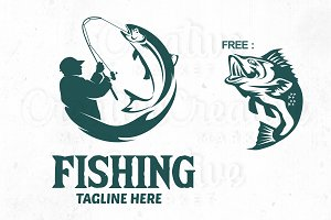 Fishing logo Templete, Fish