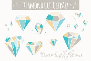 Blue Diamonds Clip Art - Vector
