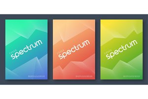 Minimalist abstract gradient cover designs
