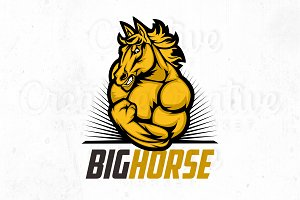 Big Horse logo, illustration