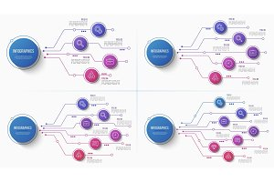 Vector 4 5 6 7 options infographic structure chart