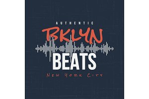 Brooklyn beats. T-shirt and apparel design