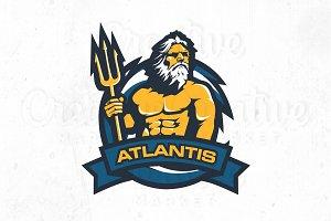 Lord Atlantis logo templete