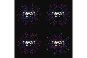 Vector illustration of firework explosions