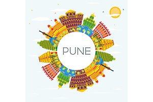 Pune India Skyline
