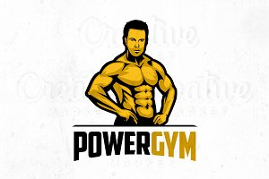 Power Gym Logo Illustration