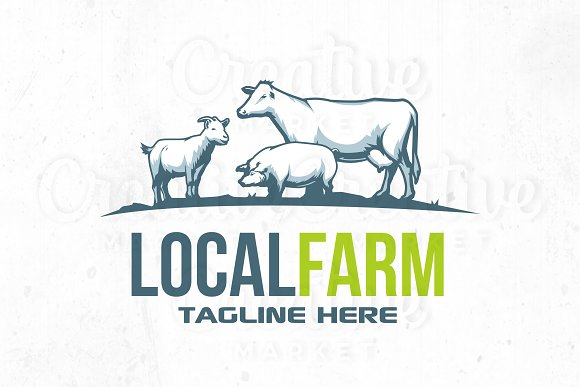 Local Farm logo illustration