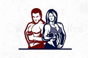 Couple Fitness Illustration