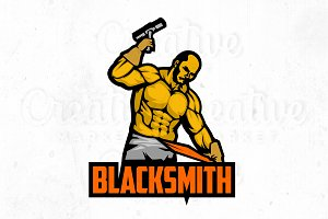 Blacksmith logo illustration