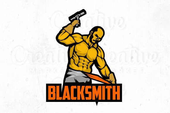 Blacksmith Logo Illustration