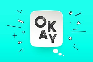 Banner Okay. Speech bubble