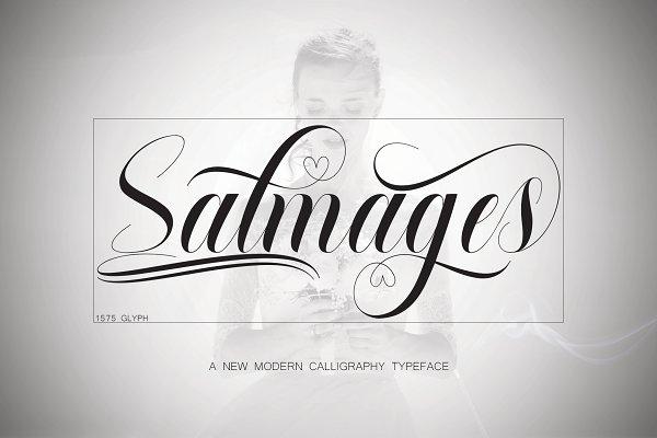 Script Fonts: NaldyStudio - Salmages