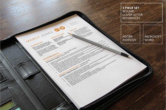 Nurse Resume, Cover Letter Template