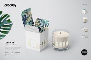 Candle Mockup Set v.1