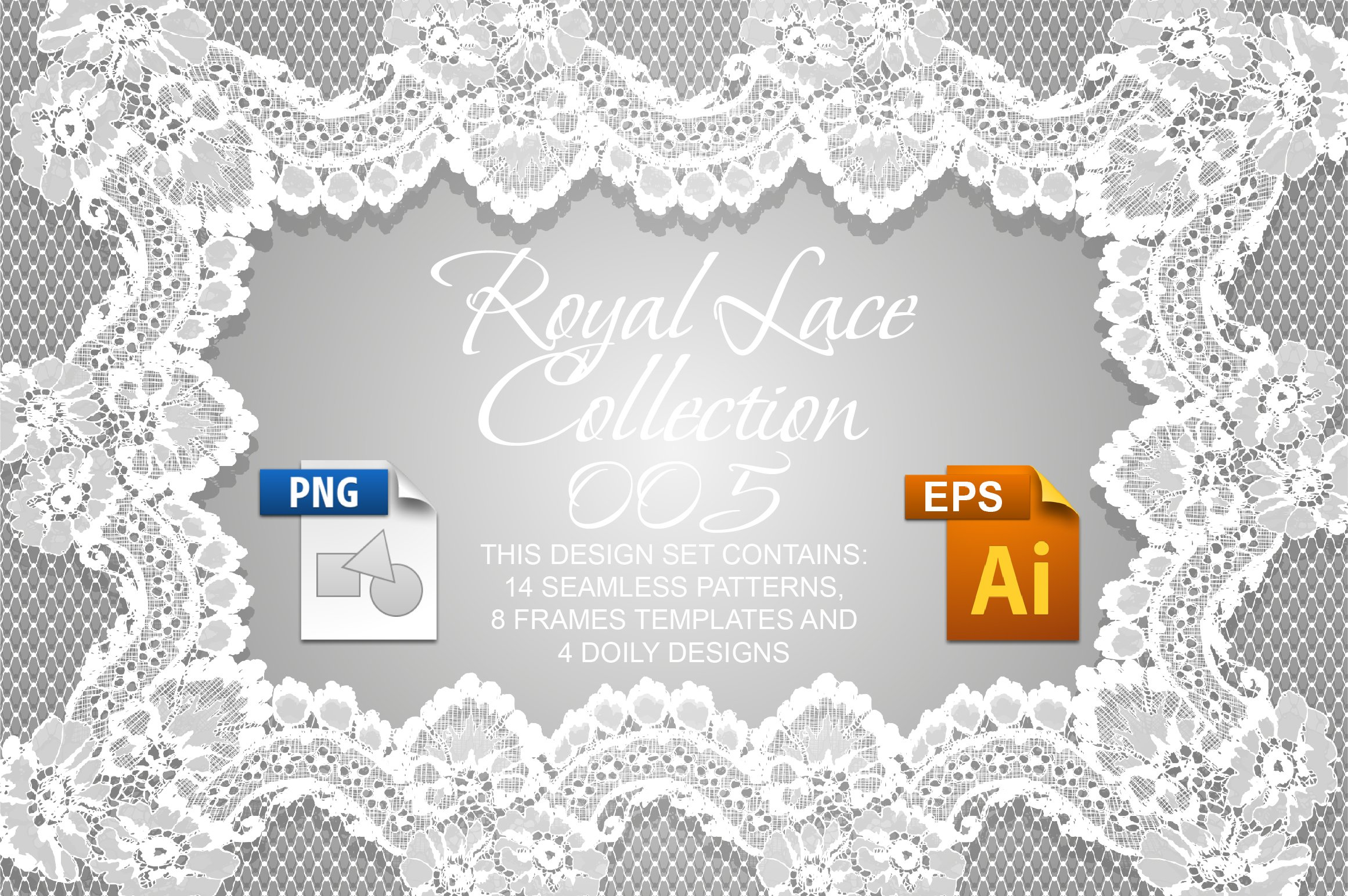 Royal Lace Collection 005 ~ Graphic Patterns ~ Creative Market