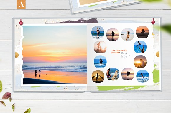 12x12 Photo Album Template Aurora