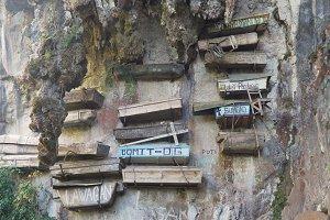 Hanging coffins of Sagada. Philippines, Luzon