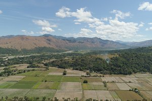Mountain valley in the Philippines