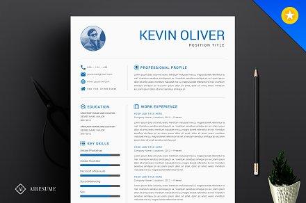 One Page Modern Resume Template ~ Resume Templates ...