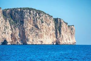 Coast and blue Mediterranean sea