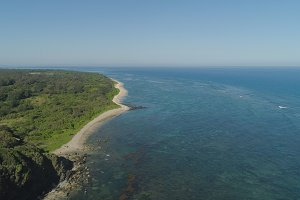 Seascape with beach and sea. Philippines, Luzon